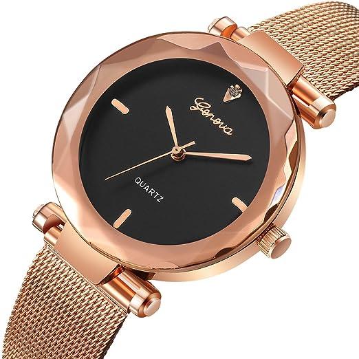 Womens Geneva Classic Quartz Wrist Watches,Hengshikeji Unique Numeral Analog Clearance Lady Wrist Watch Female