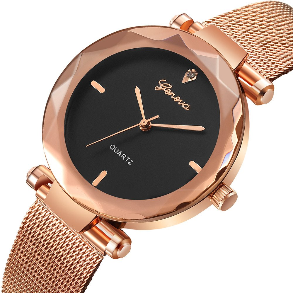 Amazon.com: Watches for Women,POTO Quartz Women Watches Luxury Stainless Steel Round Case Analog Bracelet Wrist Watches for Ladies (A): Watches