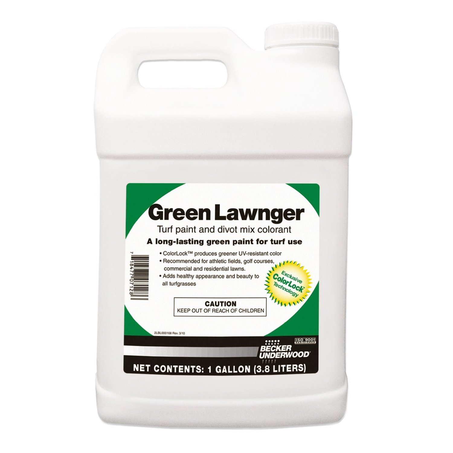 Green Lawnger Turf Paint and Divot Mix Colorant, 1 Gallon by ITS Supply
