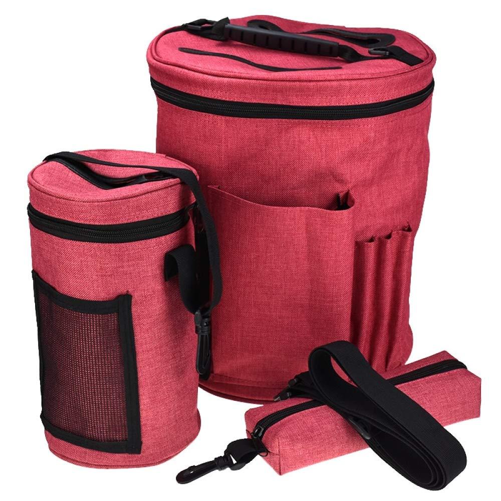 Twins LLC - 3Pcs/Set Yarn Storage Bag Organizer Bag for Crocheting & Knitting Organization Yarn Case Portable Yarn Holder Tote Bag for Women