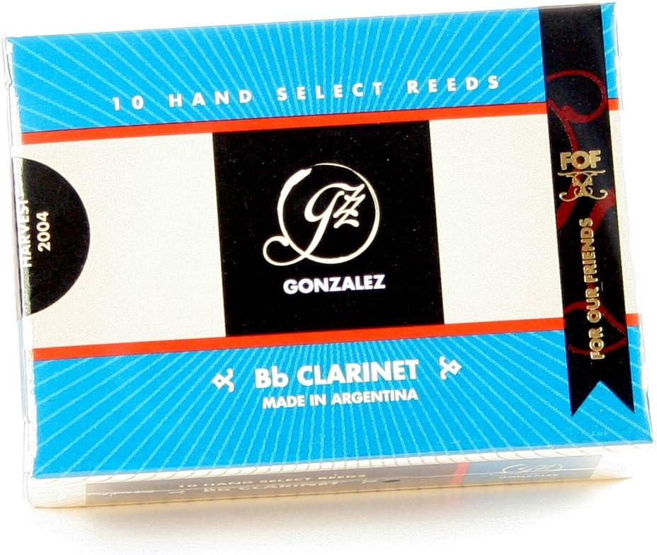 Gonzalez CLARF375 3 3//4 Strength Clarinet Reeds Box of 10