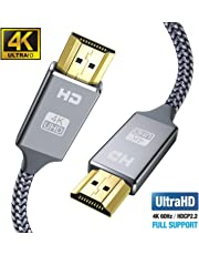 Snowkids 2m HDMI Kabel HDMI 2.0 a/b Highspeed mit Ethernet, 4K hdmi Kabel 2.0/1.4a, Video UHD 2160p, Ultra HD 1080p, 3D, ARC, CEC, Xbox PS3 PS4 PC -2m Grau