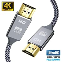 Snowkids 4k Hdmi Kabel 2m,Ultra Highspeed 18Gbit/s Hdmi 2.0 Kabel,Ultra HD 4k 60Hz HDMI 2.0 a/b,1.4a,Video 4k UHD 2160p, 1080p,Ethernet,3D,ARC,CEC-Xbox PS3 PS4 PC