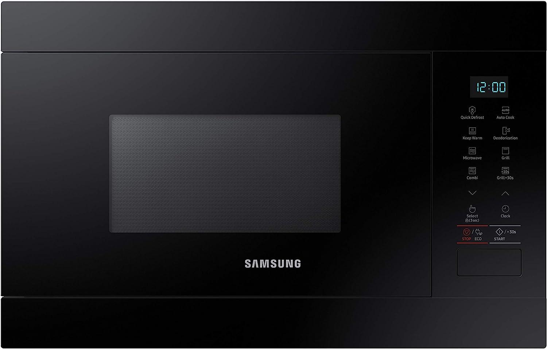 Samsung MG22M8054AK - Microondas de Integración/ Encastre, 850 W/ 1100 W, 22 Litros, Interior de Cerámica Enamel, Color Negro