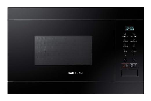 Samsung MG22M8054AK - Microondas de integración / encastre, 850W/1100W, 22 litros, interior de cerámica enamel, color negro