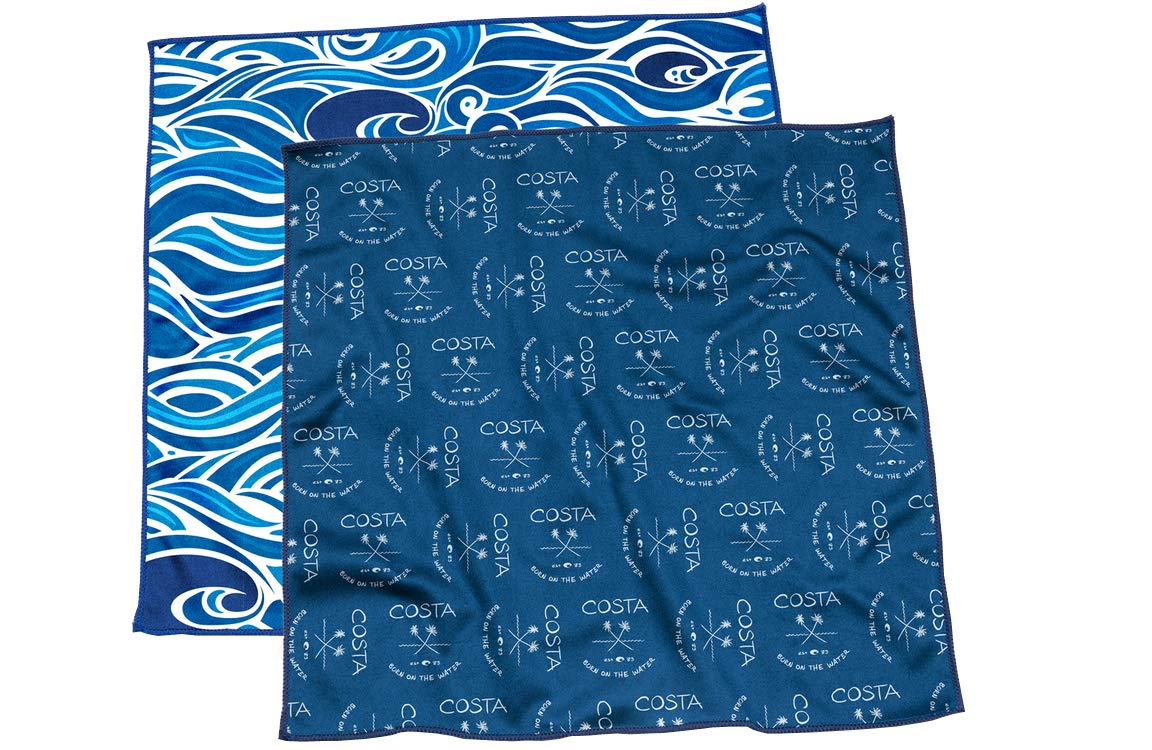 Costa Del Mar - 2 Pack 12'' x 12'' Microfiber Cleaning Cloth by Costa Del Mar
