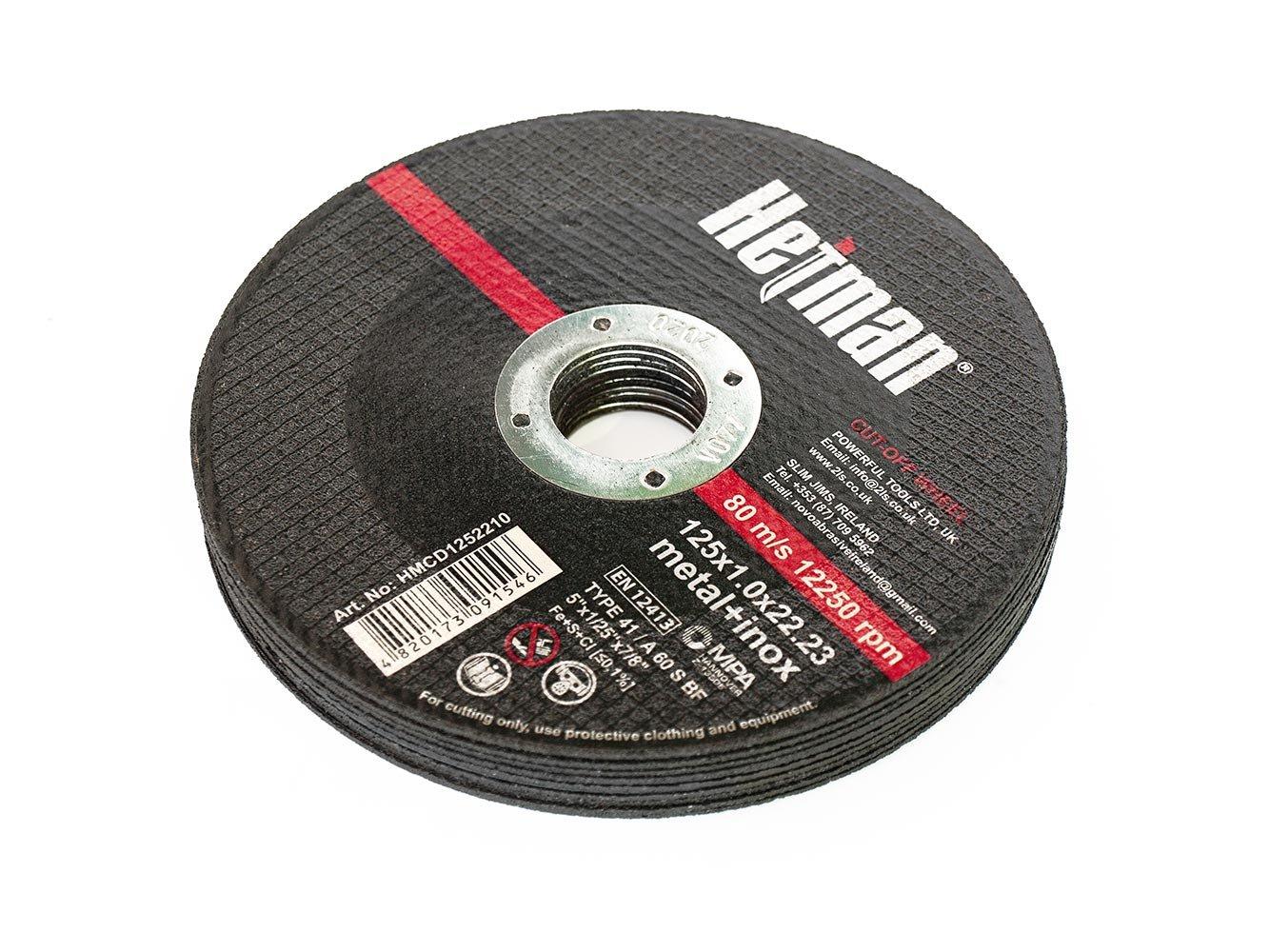 Disco de corte de metal 115 x 3 x 22,2 mm NOVOABRASIVE juego de 10 unidades