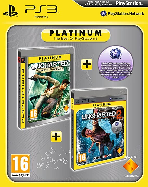 Uncharted: Drakes Fortune & Uncharted 2: Among Thieves - Platinum Double Pac... [importación inglesa]: Amazon.es: Videojuegos