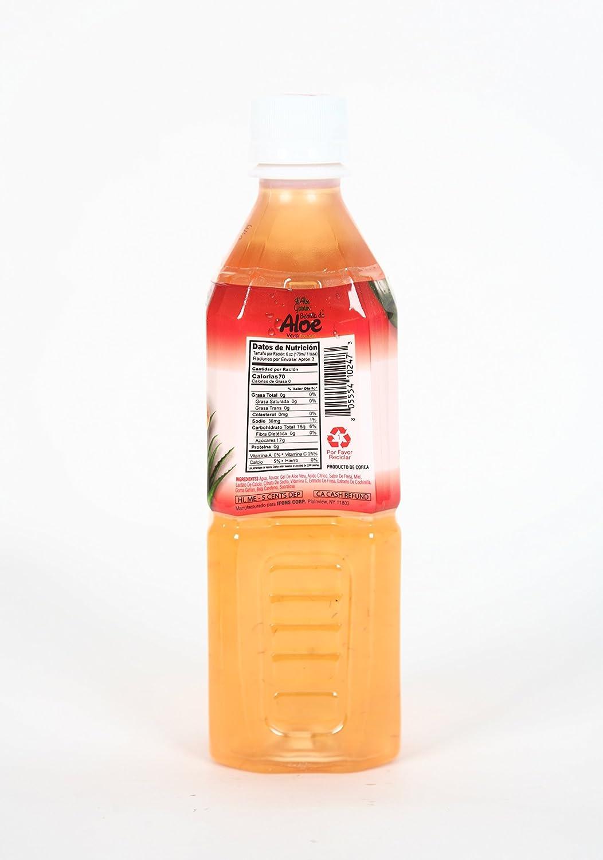Amazon.com : Aloe Garden Premium Aloe Vera Drink, Strawberry, 16.9 oz (Pack of 20) : Grocery & Gourmet Food