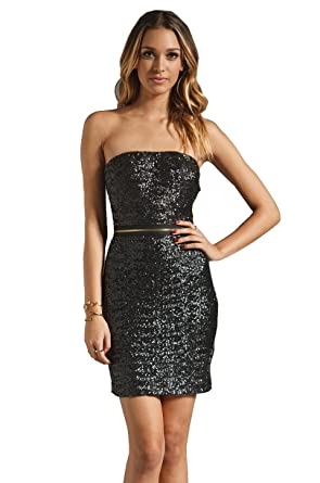 Amazon.com: DRESS THE POPULATION AVA Womens Strapless Sequin Dress ...