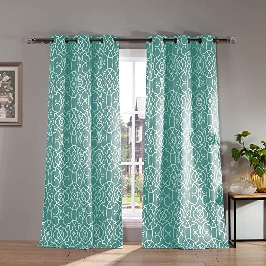 Kelvin Kit Blackout Window Curtain, 38 x 84 Inches, Ocean