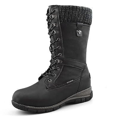 Comfy Moda Women's Waterproof Wool-Lined Snow Boots Storm | Mid-Calf