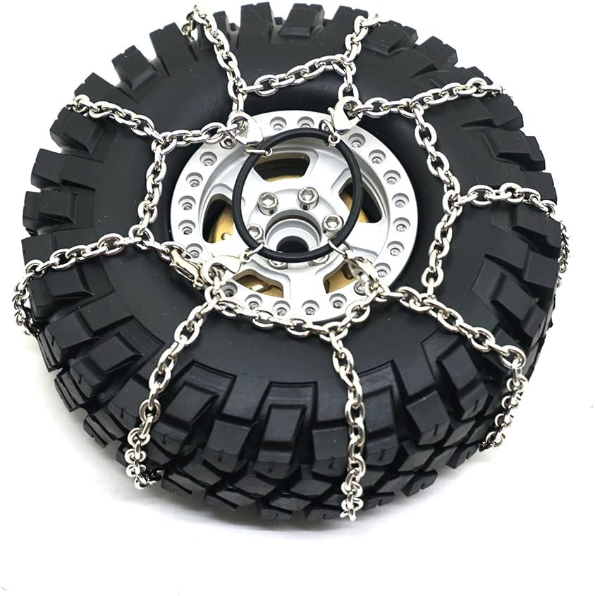 Cadenas de Nieve Antideslizantes de Metal para Traxxas TRX-4 1/10 RC Crawler