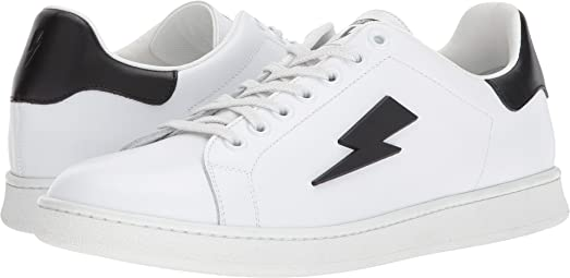 White Thunderbolt Tennis Sneakers Neil Barrett Cheap Comfortable Clearance New Styles Cheap Sale Sale Brand New Unisex Cheap Online View Vjv5qZ