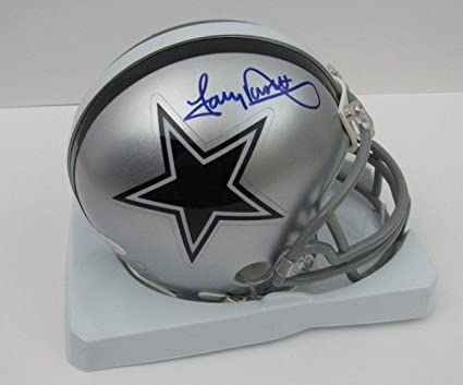 f7543f2659d Image Unavailable. Image not available for. Color: Tony Dorsett Signed Mini  Helmet ...