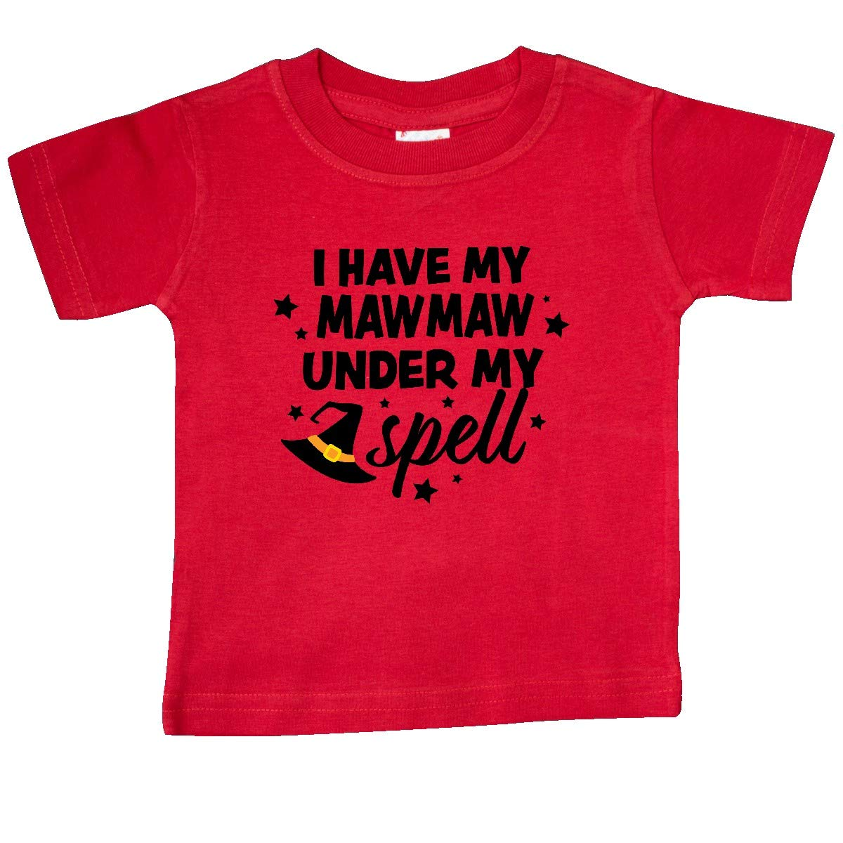 inktastic I Have My Mawmaw Under My Spell with Cute Witch Hat Baby T-Shirt