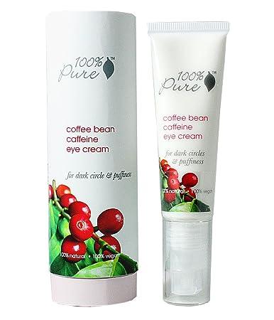 100% Pure: Organic Coffee Bean Caffeine Eye Cream, 1 oz, Anti-