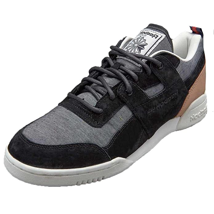 9e548f16bc45 Reebok Workout Plus Classic Fleck Men s Black Grey White Lace up Trainers   Amazon.co.uk  Shoes   Bags