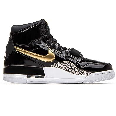 1467065c8c93 Nike Men s Air Jordan Legacy 312 Black Metallic Gold White AV3922-007 (