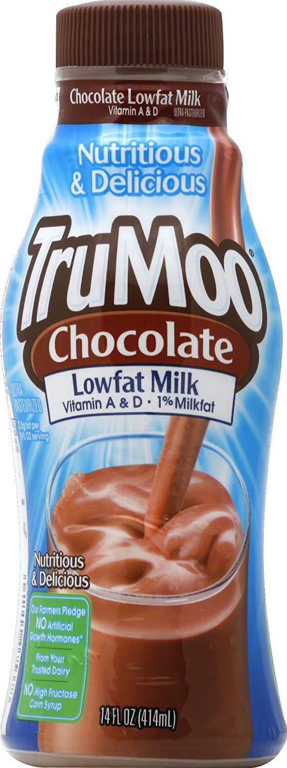 TruMoo, 1% Low Fat Chocolate Milk, 14 oz: Amazon.com: Grocery ...