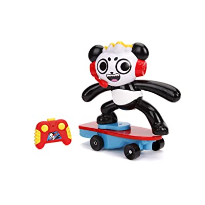 Jada Toys Ryan'S World Toy Review Combo Panda Wheely Popping Stunt Skateboard RC, Remote Control Vehicle 2.4 Ghz: Toys & Games