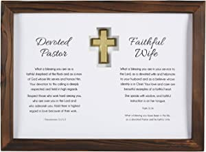 Creative Brands Heartfelt Collection Appreciation Wall Art with Scripture, 15 x 11-Inches, Pastor and Wife