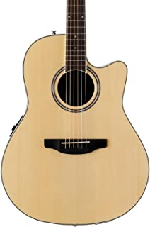 Ovation Applause 6 String Acoustic-Electric Guitar Right, Natural Mid-Depth AB24II-