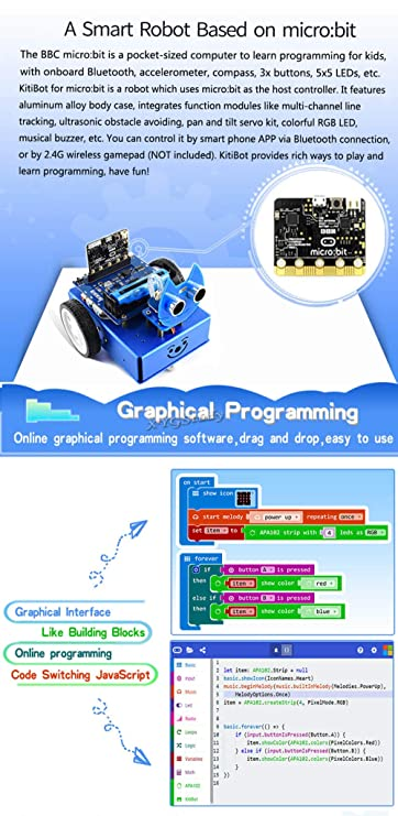 Amazon com: KitiBot Robot Complete Starter Kit for Micro:bit (Not