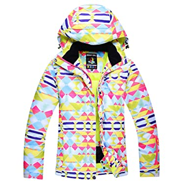 36e37382b81b Amazon.com  Womens Snow Ski Jacket Windproof Waterproof Outdoor ...