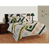 Swayam White Colour Bed Sheet with Pillow Covers