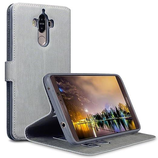 2 opinioni per Huawei Mate 9 Cover, Terrapin Cover di Pelle con Funzione di Appoggio Posteriore