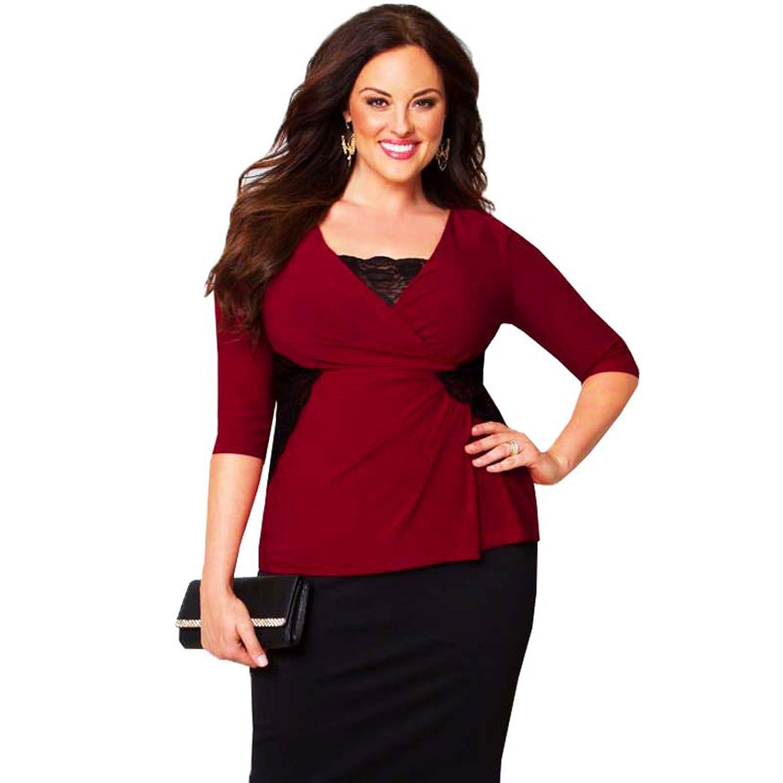 Femme Grande Haut Rouge Taille Vegas Kiyonna Las DIWH2E9