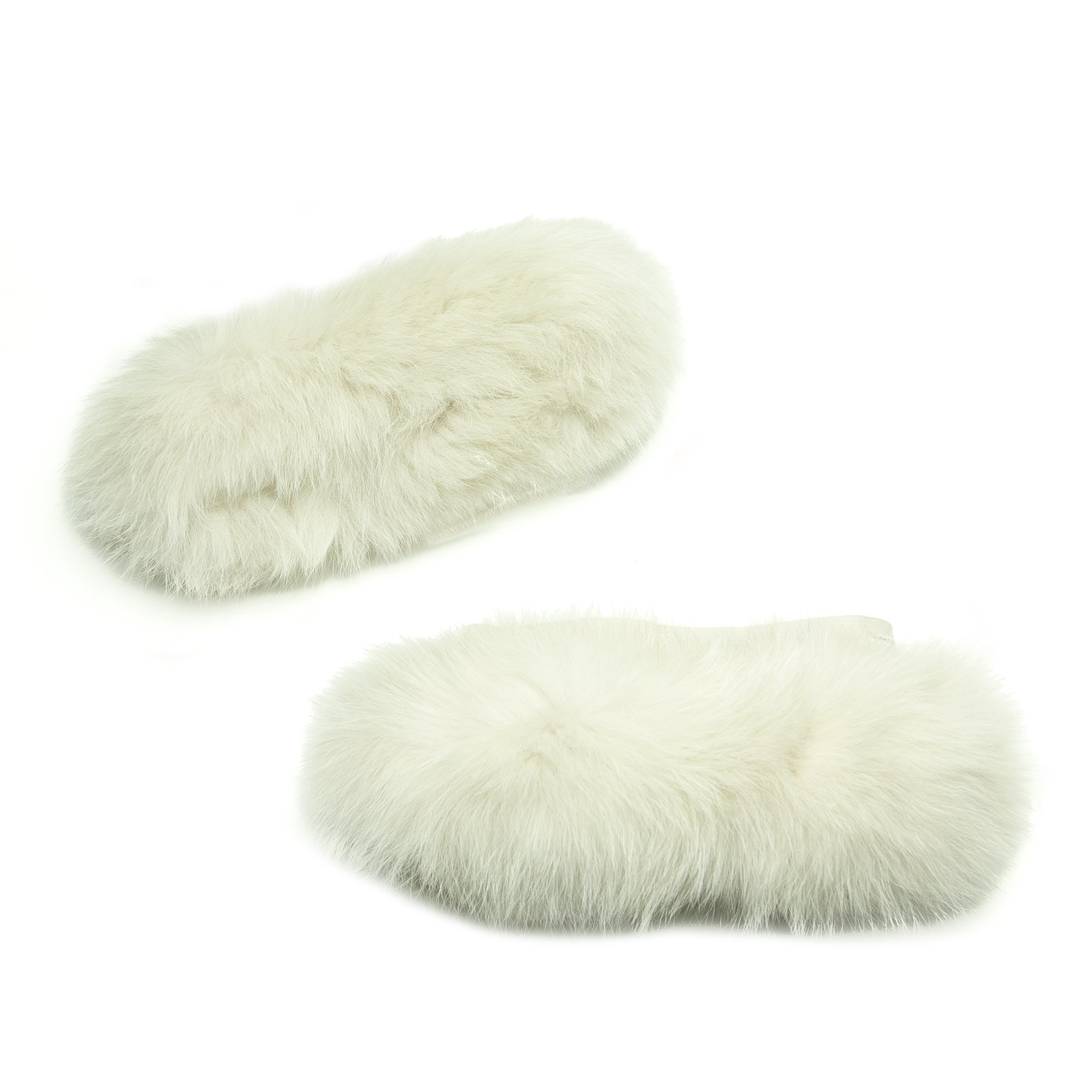 'S Max Mara Women's Pechino Fox Fur Cube Collection Cuffs One Size Ice