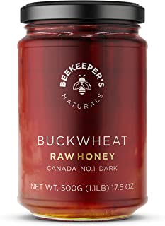 product image for Beekeeper's Naturals Buckwheat Honey - Unprocessed Ultra-Pure Honey, Containing No Additives - High In Antioxidants and Beneficial Enzymes - 100% Raw, Pure Honey - Paleo-Friendly, Gluten-Free (1.1lbs)