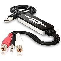 DIGITNOW USB Audio Capture Card Grabber for Vinyl Cassette Tapes to Digital MP3 Converter, Support Mac & Windows 10/8.1…