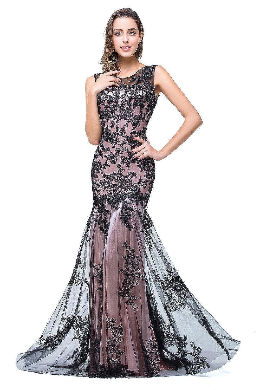 Babyonline® Damen Meerjungfrau Applique Lang Sommer Abendkleid Ballkleid Kleider
