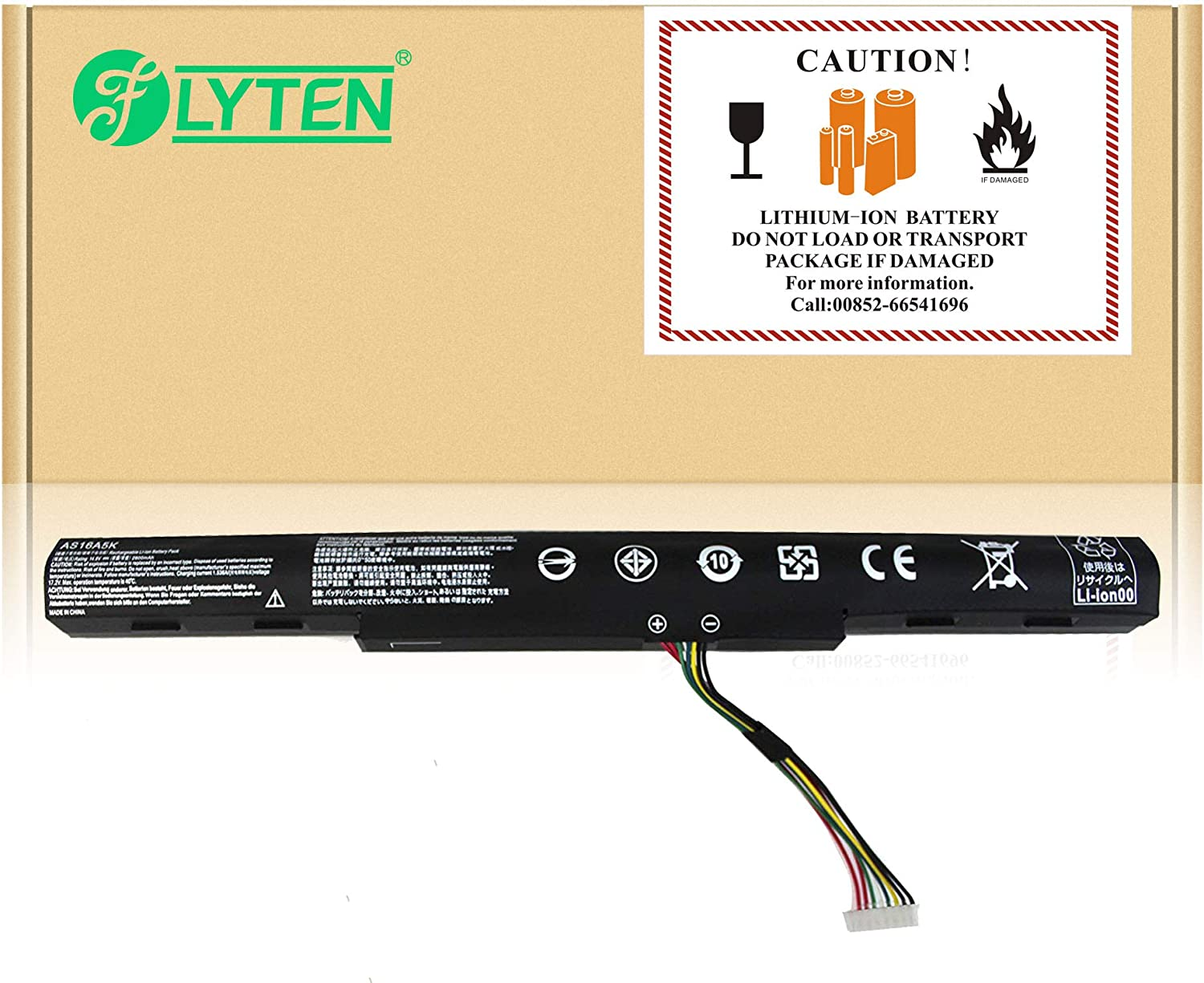 FLYTEN New AS16A5K Battery For Acer Aspire E15 E5-475 E5-475G E5-523 E5-553 E5-576 E5-774G Series,Fit P/N AS16A7K AS16A8K E5-475-31A7 E5-475-32X8 E5-475-35CL 12 Months-Warranty