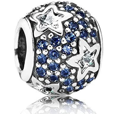 830511a04 Pandora Silver Midnight Blue Pave Stars Charm 791382CZ: Amazon.co.uk:  Clothing