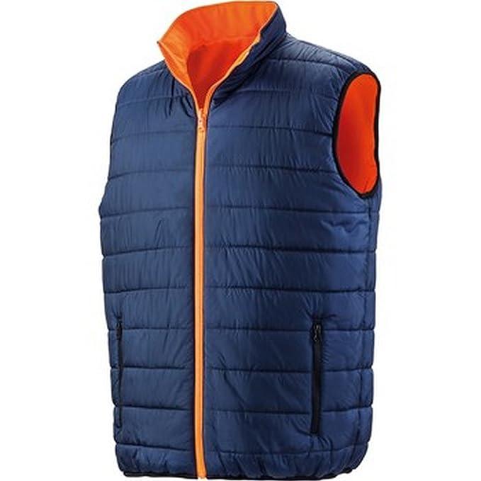 e27af5f7781 Result Safeguard Mens Reversible Soft Padded Safety Gilet: Amazon.co.uk:  Clothing