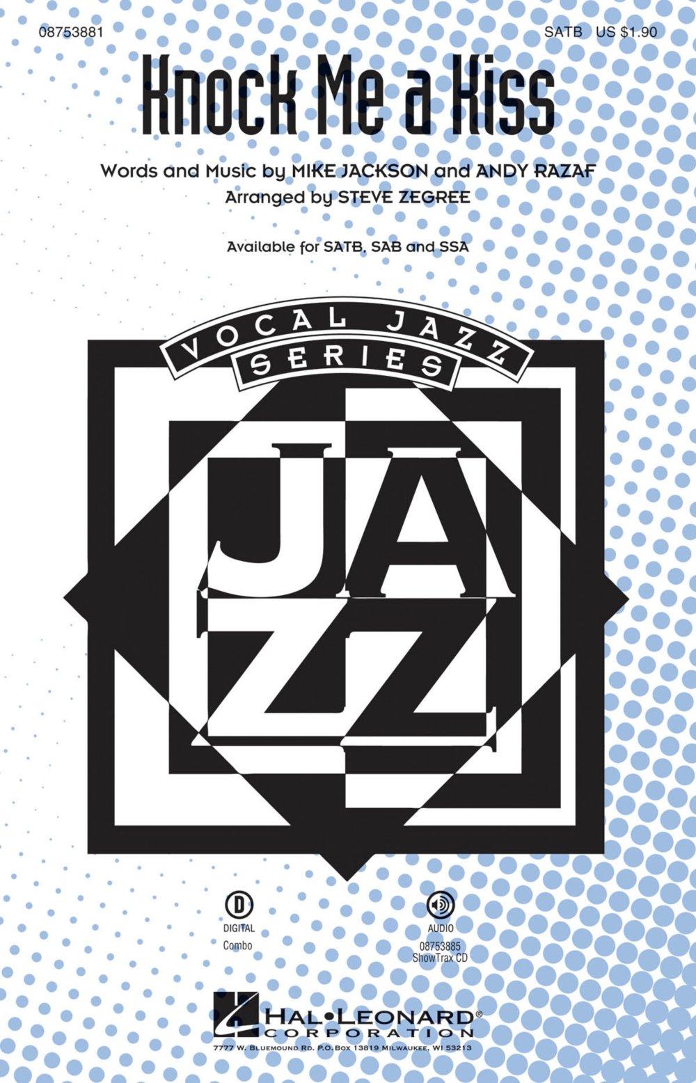Hal Leonard Knock Me a Kiss SSA Arranged by Steve Zegree pdf