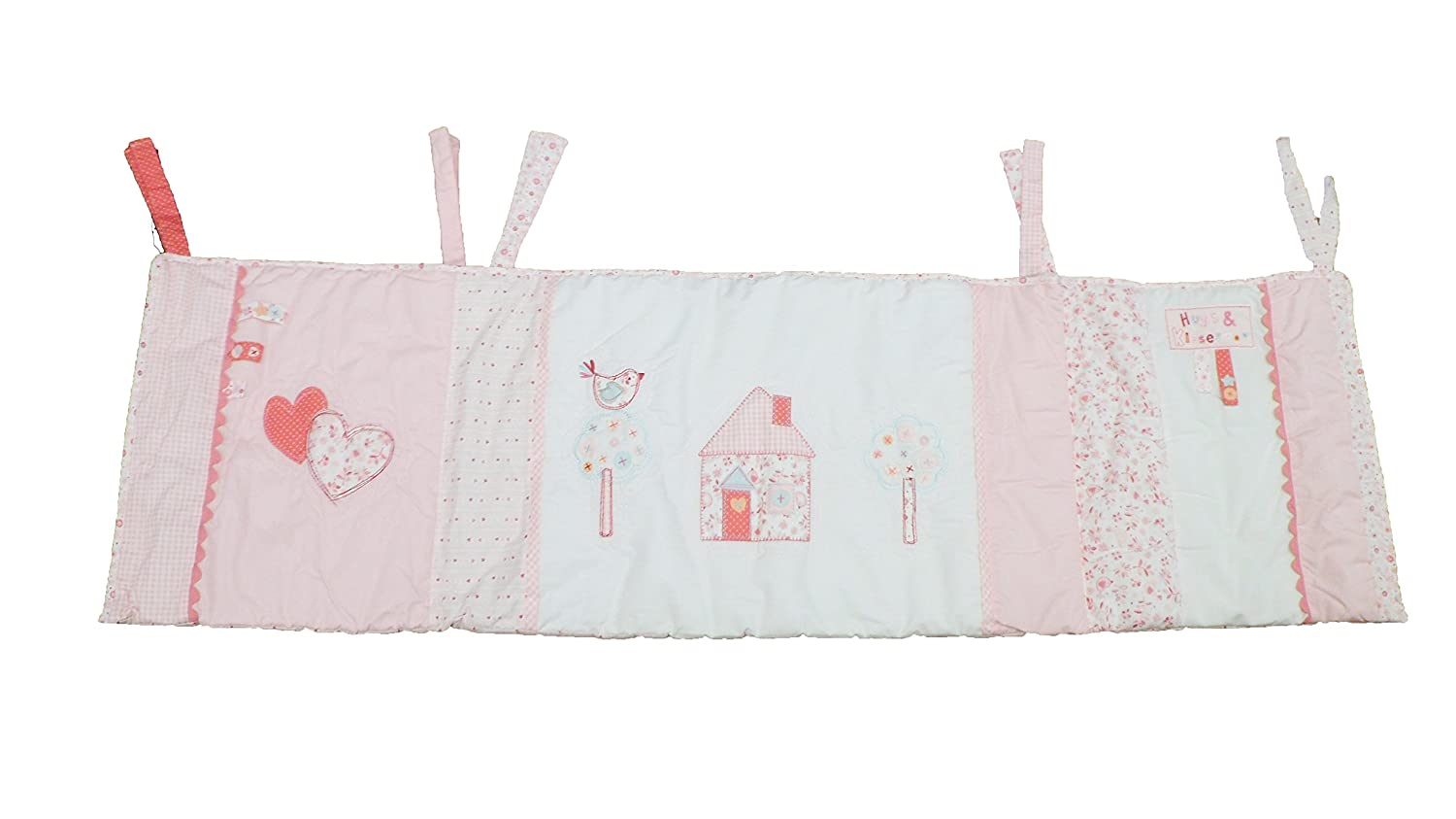 Hugs & Kisses Baby Girls Pink Cot/Cotbed Bumper Others