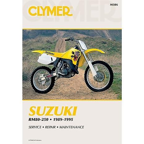 amazon com clymer repair manual m386 manufacturer automotive rh amazon com 2000 suzuki rm250 service manual pdf Suzuki RM $250 On Timeline