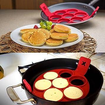 - Molde para tortitas y tortillas, de silicona 100% alimentaria, herramienta de cocina, 1 pieza: Amazon.es: Hogar