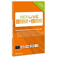 Xbox LIVE Gold 3-Month Membership Card with 1 Month Bonus (Xbox 360)