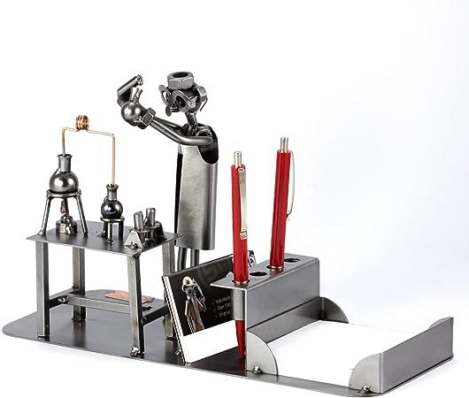 Steelman24 I Omini di Viti Fitness Trainer I Idee Regalo Originale I Soprammobili in Metallo I Modellino