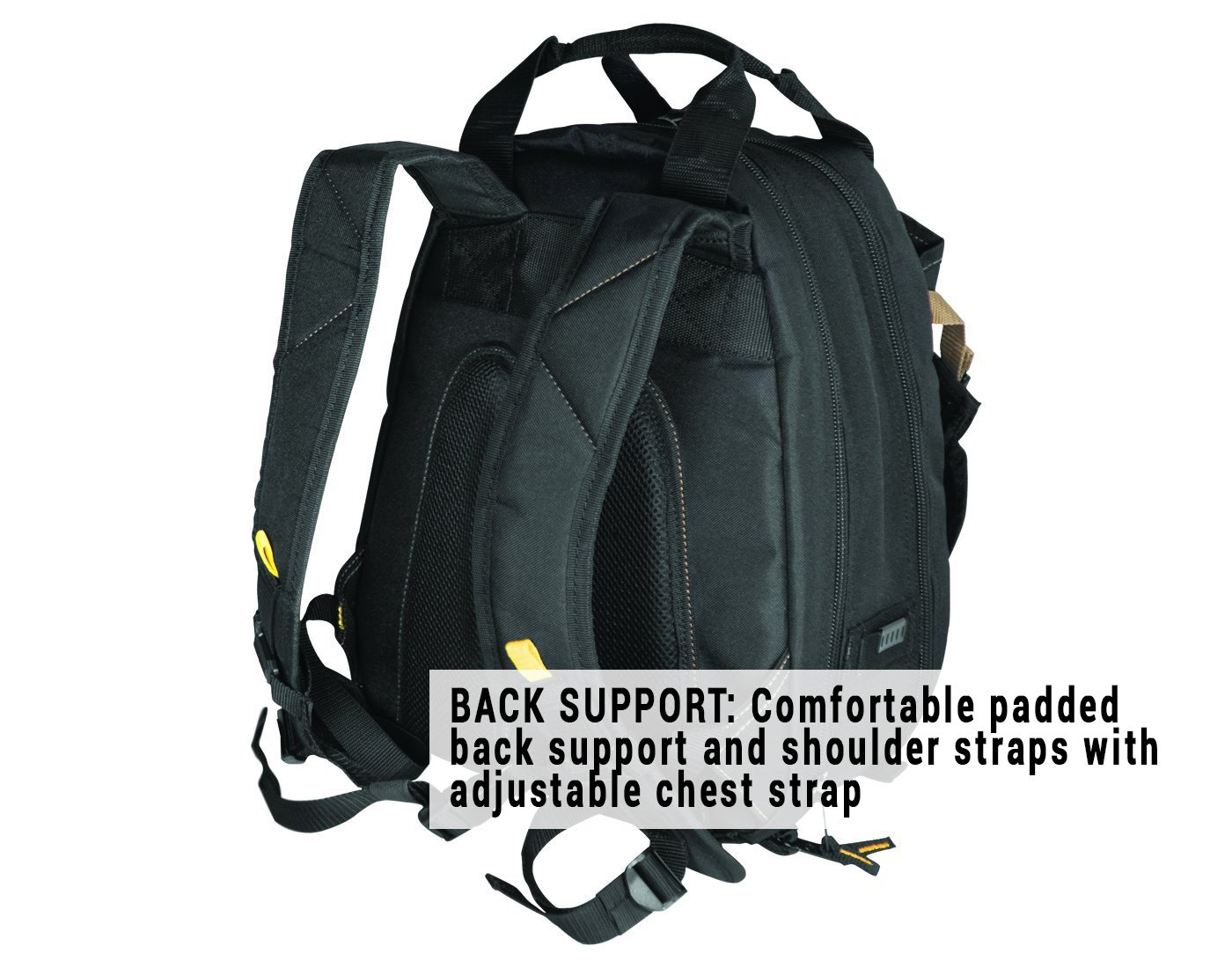CLC 1134 Carpenter's Tool Backpack with 44 Pockets and Padded Back Support by Custom Leathercraft (Image #4)