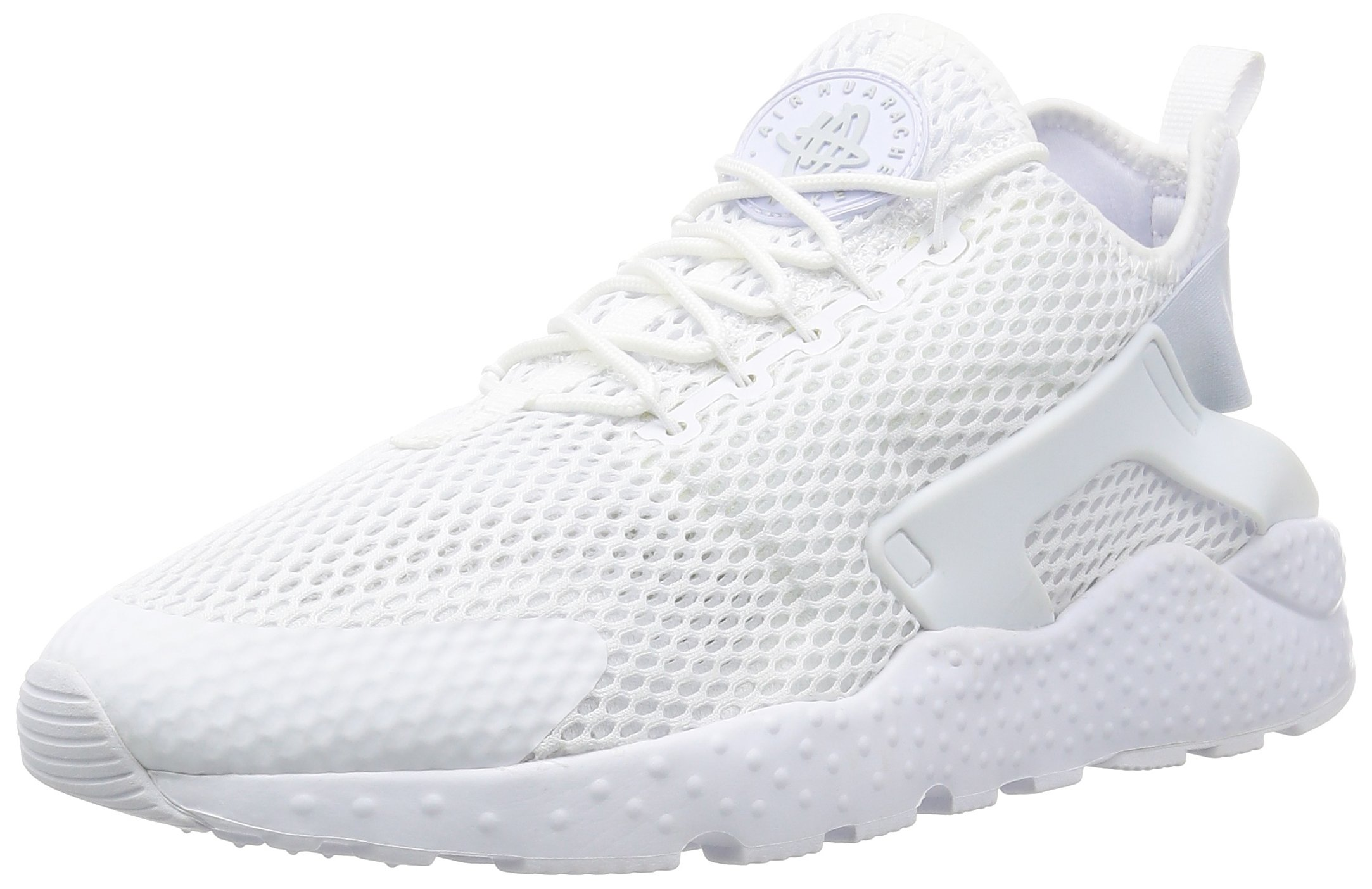 ba5cb77740f17 Galleon - Nike Womens Air Huarache Run Ultra Breathe White Mesh Trainers 8  US