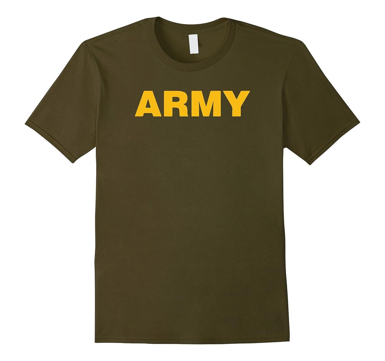 24ddf977 Rocket Gear Military T-Shirts - Gold Army Logo T-Shirts Swe-TH ...