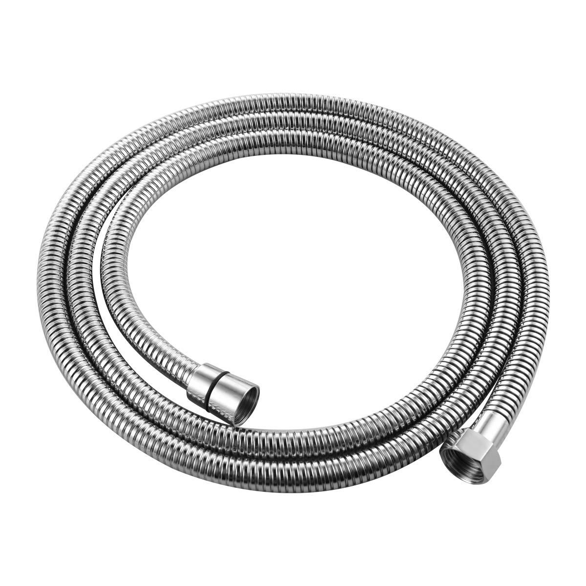 98 pulgadas Manguera de ducha flexible anti-torcedura Cromo pulido de acero inoxidable FHA020 CIENCIA 2.5 m