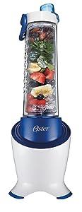 Oster BLSTPB2-WBL MyBlend Pro Series Personal Blender with Condensation Free Bottle, Travel Clip and 4 Reusable Straws, Blue